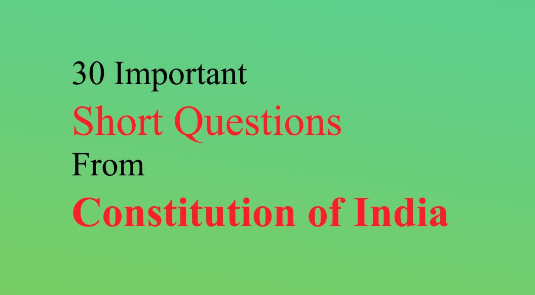 mcq constitution