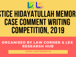 Case Comment Writing Competition 2019