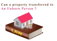 Can a property transferred to an unborn