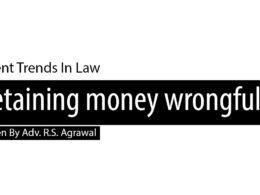 Retaining money wrongfully