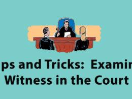 Examine witness