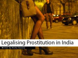 Legalising Prostitution in India