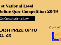 National Level Online Quiz Competition 2019