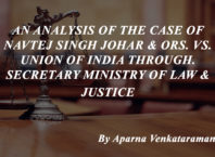 Case analysis on Navtej Singh Johar & Ors. v. UOI